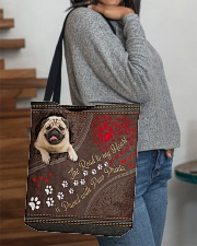 Pug-dog-the-road-to-my-heart All-over Tote aos-all-over-tote-lifestyle-front-09