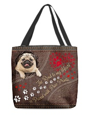 Pug-dog-the-road-to-my-heart All-over Tote front