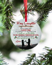 Never Forget That I Love You - Mom To Daughter Circle ornament - single (porcelain) aos-circle-ornament-single-porcelain-lifestyles-07