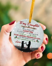 Never Forget That I Love You - Mom To Daughter Circle ornament - single (porcelain) aos-circle-ornament-single-porcelain-lifestyles-09