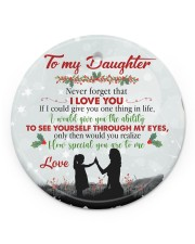 Never Forget That I Love You - Mom To Daughter Circle ornament - single (porcelain) front