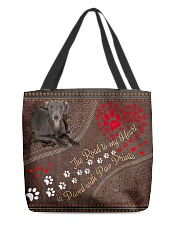 Italian-Greyhound-dog-the-road-to-my-heart All-over Tote front