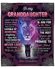 "I Want U To Belive Deep Lion To Granddaughter Fleece Blanket - 50"" x 60"" front"