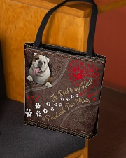 The Road To My Heart Is Paved With Paw Bulldog All-over Tote aos-all-over-tote-lifestyle-front-02