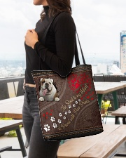 The Road To My Heart Is Paved With Paw Bulldog All-over Tote aos-all-over-tote-lifestyle-front-04