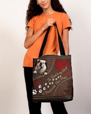 The Road To My Heart Is Paved With Paw Bulldog All-over Tote aos-all-over-tote-lifestyle-front-06