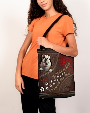 The Road To My Heart Is Paved With Paw Bulldog All-over Tote aos-all-over-tote-lifestyle-front-07