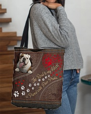 The Road To My Heart Is Paved With Paw Bulldog All-over Tote aos-all-over-tote-lifestyle-front-09