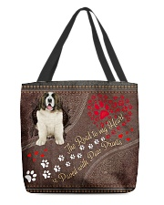 Pyrenean-Mastiff-dog-the-road-to-my-heart All-over Tote back