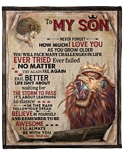 """Dad To Son Ever Failed No Matter -Lion Fleece Blanket - 50"""" x 60"""" front"""