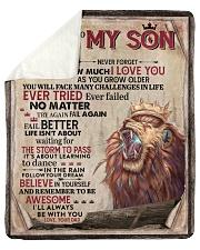 Dad To Son Ever Failed No Matter -Lion Sherpa Fleece Blanket tile