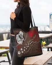 English-Setter-dog-the-road-to-my-heart All-over Tote aos-all-over-tote-lifestyle-front-04