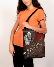 English-Setter-dog-the-road-to-my-heart All-over Tote aos-all-over-tote-lifestyle-front-07