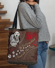 English-Setter-dog-the-road-to-my-heart All-over Tote aos-all-over-tote-lifestyle-front-09