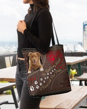 Nova-Scotia-Duck-Tolling-Retriever-dog-road All-over Tote aos-all-over-tote-lifestyle-front-04
