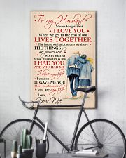 To My Husband I Love You Because You Are My Life 11x17 Poster lifestyle-poster-7