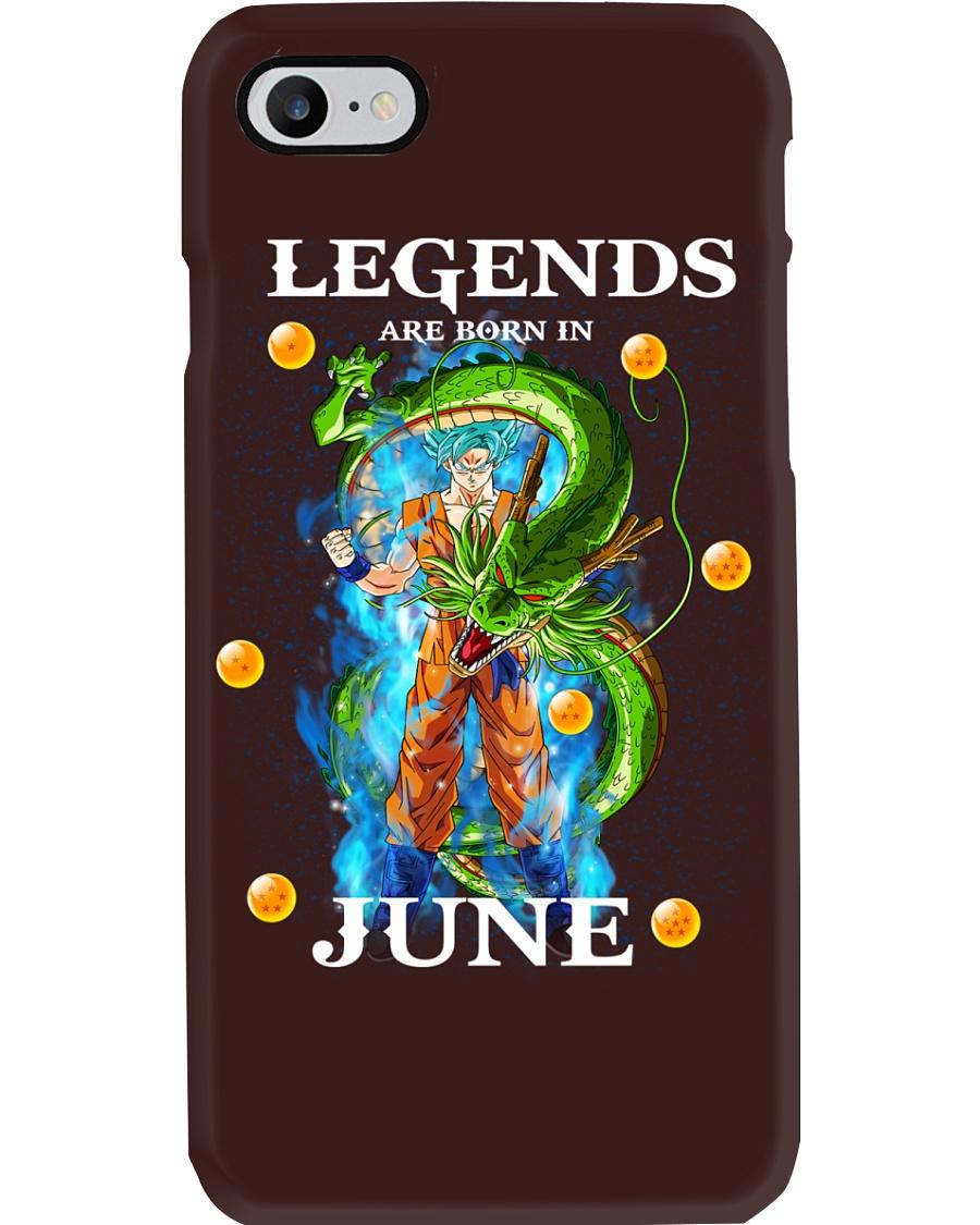 Dragon goku Legends are born in June Phone Case