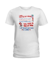 I Will Teach Because I Care Ladies T-Shirt thumbnail
