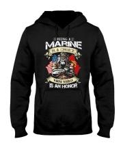 Being A Marine Hooded Sweatshirt thumbnail