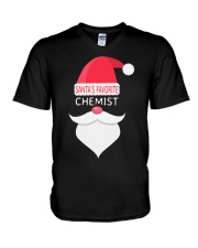 Santa's favorite chemist V-Neck T-Shirt tile