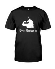 Gym Unicorn TShirt Classic T-Shirt front