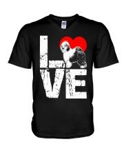 Old English Sheepdog Shirt V-Neck T-Shirt thumbnail