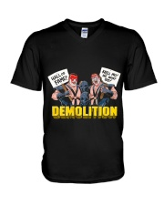 DEMOLITION V-Neck T-Shirt thumbnail