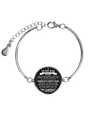 Best Father's Day Gift for Dad Father Step Dad Metallic Circle Bracelet thumbnail