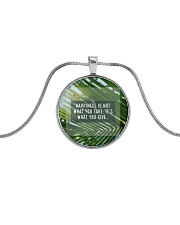 How To Attain Happiness Metallic Circle Necklace thumbnail