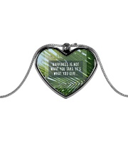 How To Attain Happiness Metallic Heart Necklace thumbnail