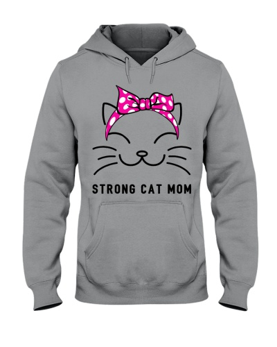 Strong Cat Mom-Pink bow