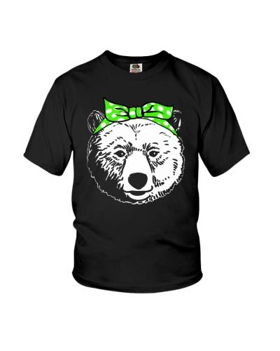 Strong bear woman-Green bow