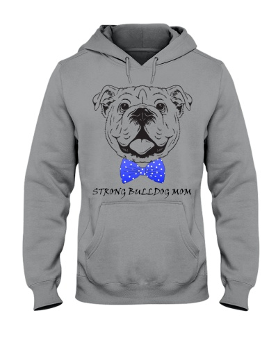 Strong Bulldog Mom-Royal bow tie