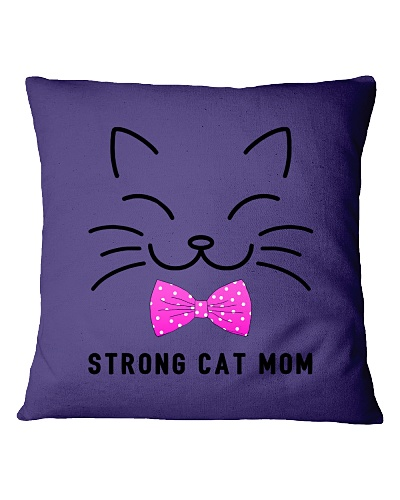 Strong Cat Mom-Pink bow tie