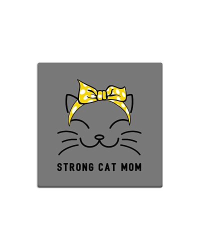 Strong Cat Mom-Yellow bow