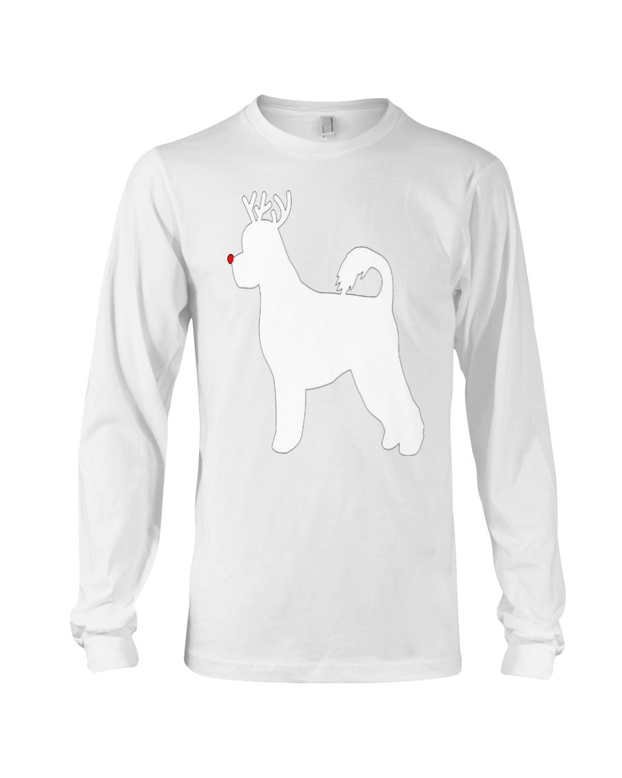 Portuguese Water Dog Reindeer Christmas Dog Long Sleeve Tee