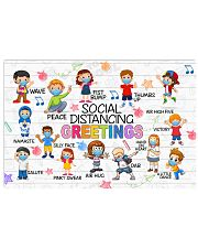 Social Distancing Greetings Poster 17x11 Poster front