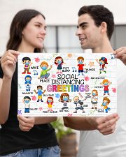 Social Distancing Greetings Poster 17x11 Poster poster-landscape-17x11-lifestyle-20