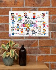 Social Distancing Greetings Poster 17x11 Poster poster-landscape-17x11-lifestyle-23