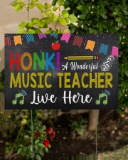 Honk A Wonderful Music Teacher Lives Here 18x12 Yard Sign aos-yard-sign-18x12-lifestyle-front-06
