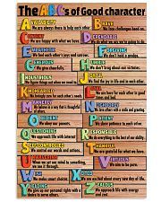 ABC's of Good Character 11x17 Poster front