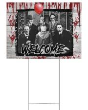 Horror Movie 24x18 Yard Sign back