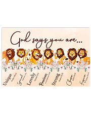 Lion God Say You Are 17x11 Poster front