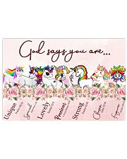 Unicorn God Say You Are 17x11 Poster front