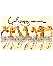 Giraffe God Say You Are 17x11 Poster front