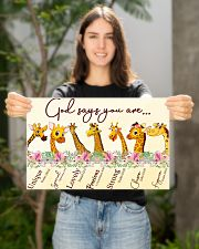 Giraffe God Say You Are 17x11 Poster poster-landscape-17x11-lifestyle-19