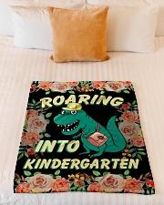"Roaring Into Kindergarten Back To School 2020 Small Fleece Blanket - 30"" x 40"" aos-coral-fleece-blanket-30x40-lifestyle-front-04"