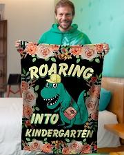 "Roaring Into Kindergarten Back To School 2020 Small Fleece Blanket - 30"" x 40"" aos-coral-fleece-blanket-30x40-lifestyle-front-09"