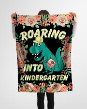 "Roaring Into Kindergarten Back To School 2020 Small Fleece Blanket - 30"" x 40"" aos-coral-fleece-blanket-30x40-lifestyle-front-14"