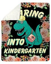 Roaring Into Kindergarten Back To School 2020 Sherpa Fleece Blanket tile